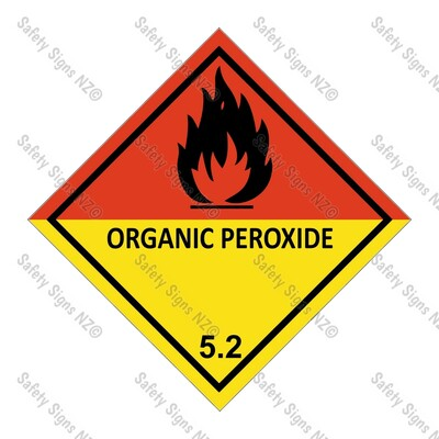 CYO|DG5.2 - Organic Peroxide Dangerous Goods Signv