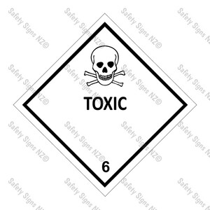 CYO|DG6.1 - Toxic Substance Dangerous Goods Sign