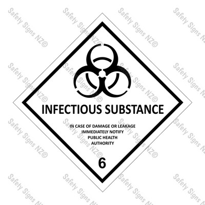 CYO|DG6.2 - Infectious Substance Dangerous Goods Sign