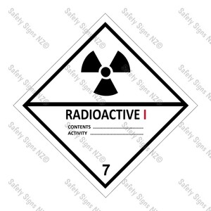 CYO|DG7.1 - Radioactive I Dangerous Goods Sign