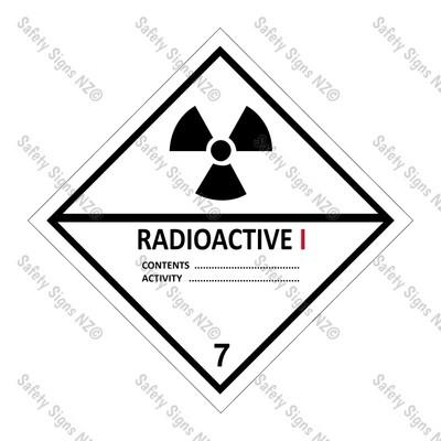 CYO|DG7.1 - Radioactive I Dangerous Goods Sign