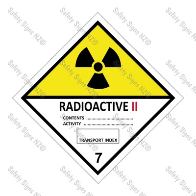 CYO|DG7.2 - Class 7.2 Radioactive II Dangerous Goods Sign