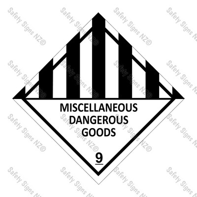 CYO|DG9 - Miscellaneous Dangerous Goods Sign