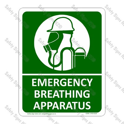 CYO|FFE20 – Emergency Breathing Apparatus Sign