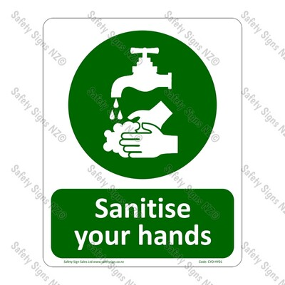 CYO|HY01 Sanitize Your Hands Sign