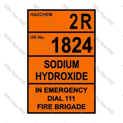CYO|HZ02 - Sodium Hydroxide Hazchem Sign
