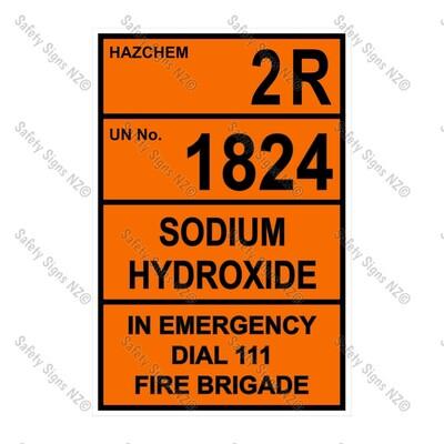 CYO|HZ02 - Sodium Hydroxide Hazchem Sign
