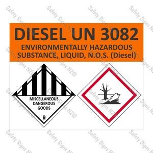 CYO|HZ01 - Hazchem Diesel Tanker Labels