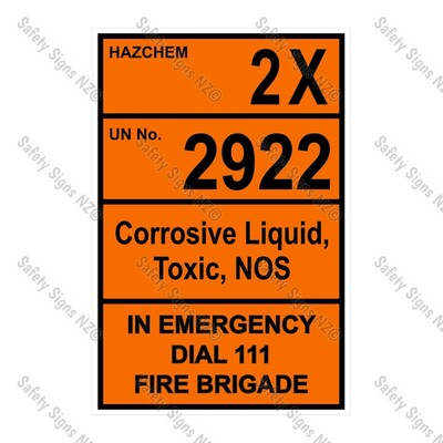 CYO|HZ04 - 2X 2922 Biological Hazard Hazchem Sign