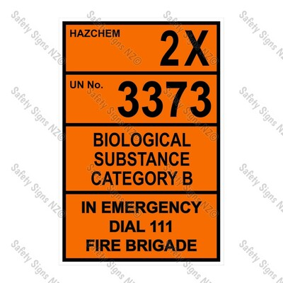 CYO|HZ05 - 2X 3373 Biological Hazard Hazchem Sign