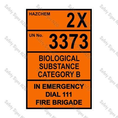 CYO|HZ05 - 2X 3373 Biological Hazard Hazchem Sign