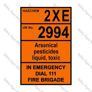 CYO HZ06 - 2XE 2994 Biological Hazard Hazchem Sign