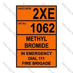 CYO HZ07 - 2XE 1062 Methyl Bromide Sign