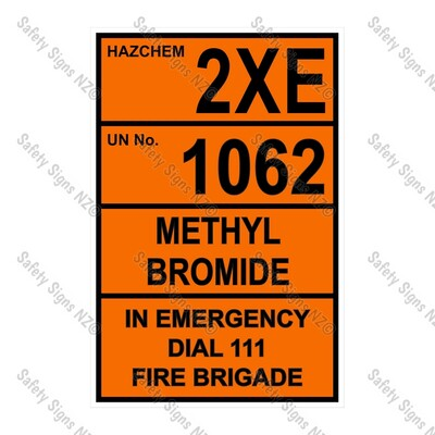 CYO|HZ07 - 2XE 1062 Methyl Bromide Sign