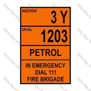 CYO|HZ09 - 3Y 1203 Petrol Hazchem Sign