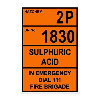 CYO|HZ13 - 2P 1830 Sulphuric Acid Hazchem Sign
