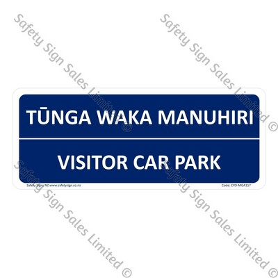 CYO|MGA117 - Visitor Car Park Bilingual Sign