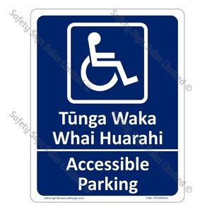 CYO|MGA131 - Accessible Parking Bilingual Sign