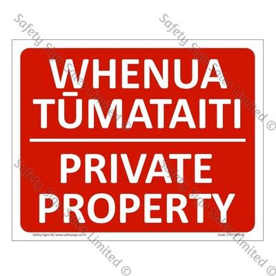 CYO|MPA28 - Private Property Bilingual Sign