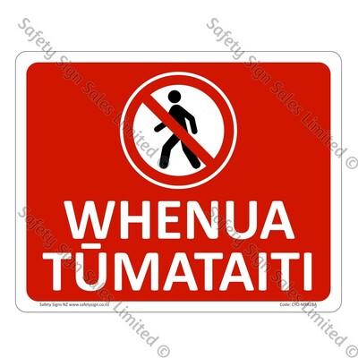 CYO|MPA28A - Whenua Tūmataiti Sign