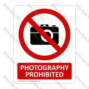 CYO|PA02 Photography Prohibited Sign