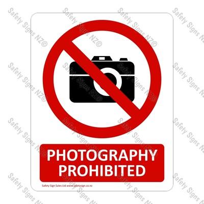 CYO|PA02 Photography Prohibited Sign
