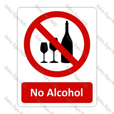 CYO|PA01 – No Alcohol Sign
