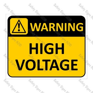 CYO|WA02 High Voltage Sign