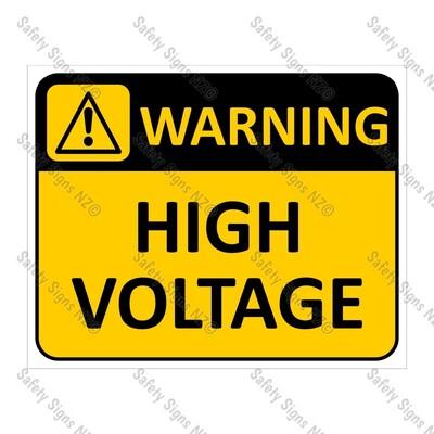 CYO|WA02 High Voltage Sign