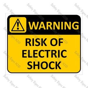 CYO|WA03A Risk of Electric Shock Sign