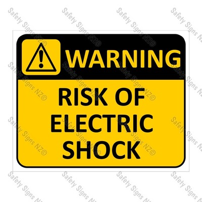 CYO|WA03A Risk of Electric Shock Sign