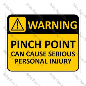 CYO|WA13 Pinch Point Sign