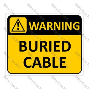 CYO|WA14 Buried Cable Sign