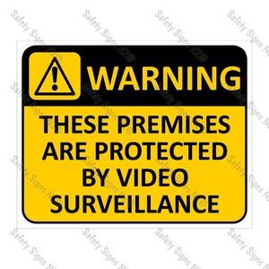 CYO|WA15 Video Surveillance Sign