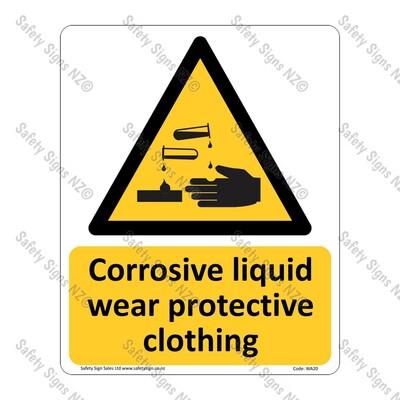 CYO-WA20 – Corrosive Liquid Sign