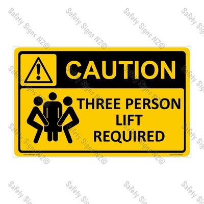 CYO|WC03 – Three Person Lift Required Sign