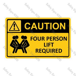 CYO|WC04 – Four Person Lift Required Sign