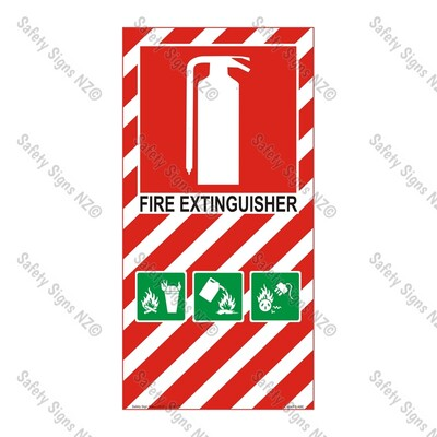 CYO|FBABE- Fire Extinguisher Sign (ABE Dry Powder)