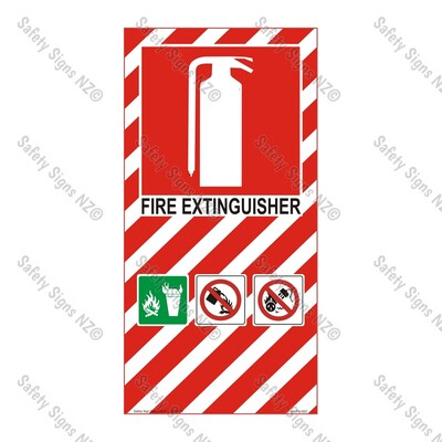 CYO|FBH20 - Fire Extinguisher Sign WATER