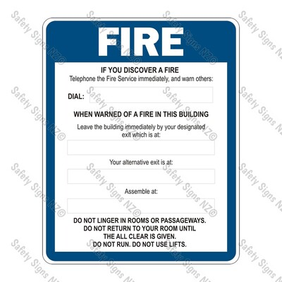CYO|FE6 – Fire Evacuation Sign (Without Alarm)