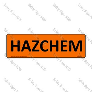 HZ1 - Hazchem Sign