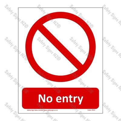 PA42 – No Entry Sign