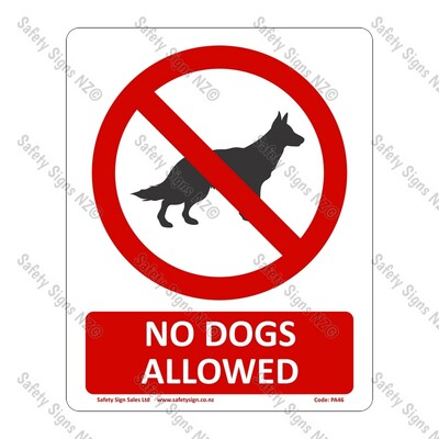 CYO|PA46 – No Dogs Allowed Sign