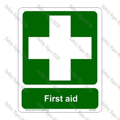 CYO|SC32 – First Aid Sign