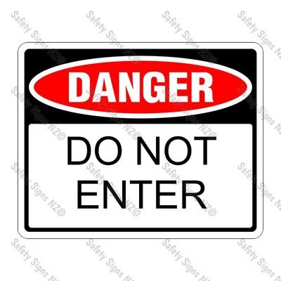 UD11 – Danger, Do Not Enter Sign