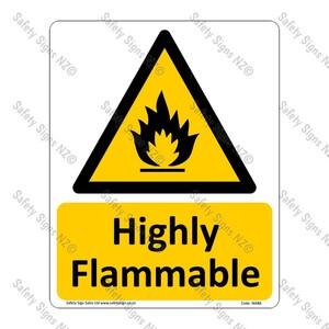 CYO|WA86 – Highly Flammable Sign