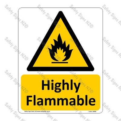 CYO|WA86 – Highly Flammable Sign