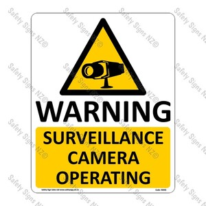 CYO|WA92 – Surveillance Camera Sign
