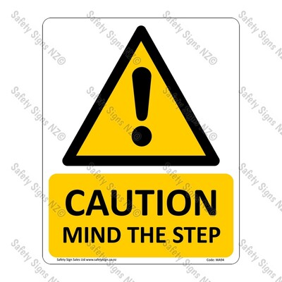 WA94 – Caution Mind The Step Sign
