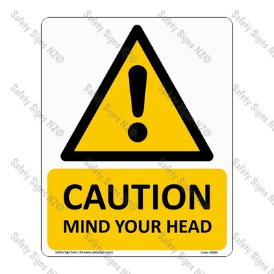 WA95 – Caution Mind Your Head Sign
